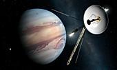 Voyager II Probe Passes Jupiter