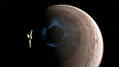 Juno and Jupiter's aurorae,illustration