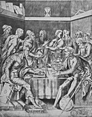 Camillo Agrippa Instrucing His Pupils