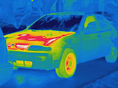 Thermogram of a car