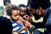 Rural vaccinations in Ethiopia