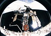 Mir station docking