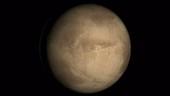 Mars rotating, composite animation