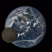 Lunar transit across the Earth, footage