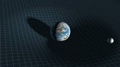 Earth and Moon and spacetime, animation
