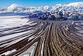 Malaspina glacier and mountains