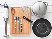 Kitchen utensils for preparing vegetable soup