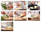 How to prepare Rösti (fried Swiss potato cake) with herb quark