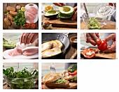 Puten-Sandwich mit Avocadocreme, Brunnenkresse und Tomaten zubereiten