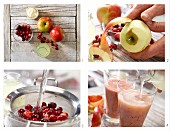 How to prepare cranberry and apple smoothie with vanilla yoghurt