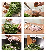 How to prepare pan-fried water spinach with beans (Asia)