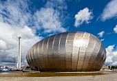 Glasgow Tower und Science Centre an der Clyde, Schottland