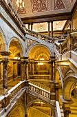 Treppe im Rathaus, Glasgow, Schottland