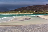 The sandy beach by Luskentyre in the south of the island of Harris in Scotland