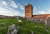St.Clements Church in Rodel, Insel Harris, Schottland