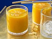 Papaya and mango shake with apple juice