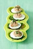 Eggs stuffed with tuna pâté