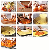 Polenta-Pizza auf mexikanische Art mit Paprikasalsa und Ei zubereiten