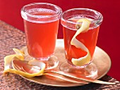 Spiced cranberry punch with cloves and ginger