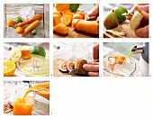 How to prepare carrot and mandarin drinks with lime juice and figs