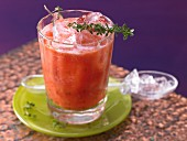 A fruity tomato drink with grapefruit