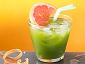 A spinach drink with grapefruit juice