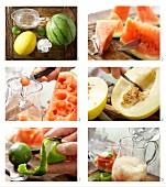 Melonenbowle mit Limetten zubereiten