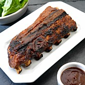 Baby back ribs with BBQ sauce