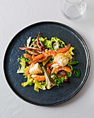 A salad with squid and prawns at the Les Deux Canailles restaurant in Nice, France