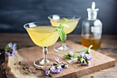 Cocktails with sage