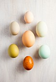 Various coloured eggs