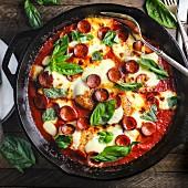 Hähnchenpfanne nach Pizza-Art