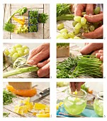 How to prepare grape and celery juice