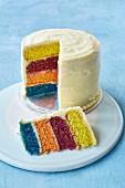Surprise cake, sliced