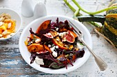 Pumpkin salad with figs