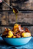 Butternut vetkoek with bacon and syrup (South Africa)