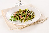 Green beans with garlic and anchovies
