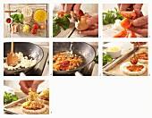 Reiswaffel-Gemüse-Snack zubereiten