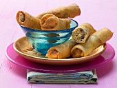 Sweet spring rolls with a date filling