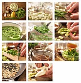 How to prepare bean and pear salad with sunflower seeds