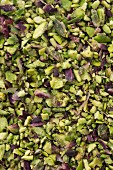 Chopped pistachio in the Bronte region of Sicily, Italy