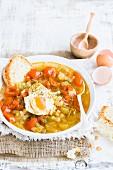 Acquacotta (Gemüsesuppe mit Ei und Brot, Toskana)