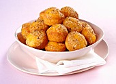 Carrot muffins with sesame seeds