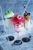Colourful Halloween freak shakes