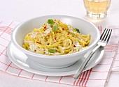Spaghetti with burrata