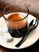 Cafe Carajillo Cortado (Espresso mit Brandy, Spanien)