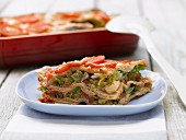 Savoy cabbage lasagne with tomatoes