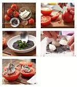 Tomatenspiesse mit Frischkäse, Mohn und Schnittlauch zubereiten