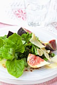 New Zealand spinach with figs and balsamic vinegar