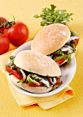 Sandwiches with marinated anchovies